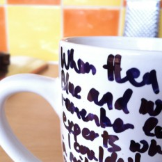 handwritten lyrics mug